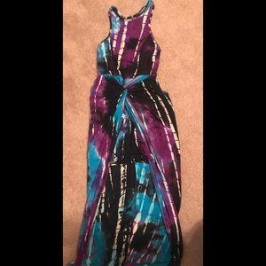 Fashion Nova Hi Low tie dye dress Bodycon